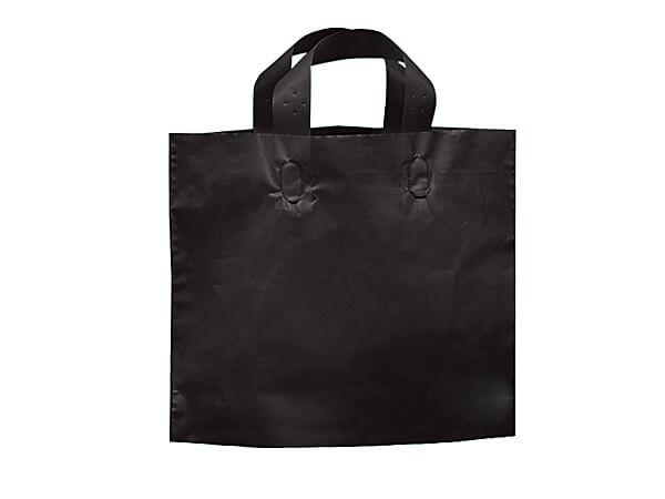 "Black Studio Plastic Bags Piccolo 12x10x4""~ 250 bulk pack"