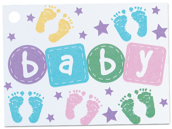 Baby Steps Theme Gift Cards 3-3/4x2-3/4""