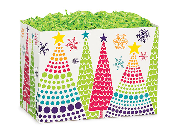 """Bright Trees Basket Boxes, Small 6.75x4x5"""", 6 Pack"""