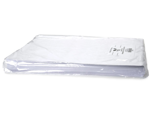 "White Buffered Tissue Paper, 20x30"" Bulk 480 Sheet Pack"