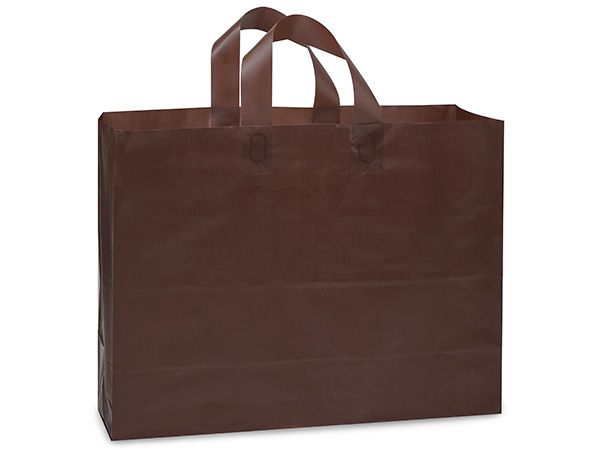 Vogue Chocolate Plastic Bags 100 3 mil Shopping Bags 16x5x12""