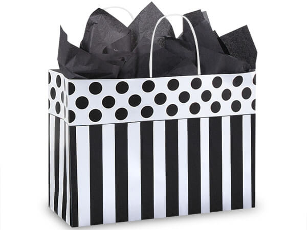 Vogue Domino Alley Shopping Bags 250 Pk 16x6x12""