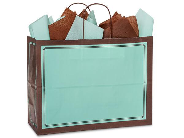 "*Aqua & Chocolate Duets Bags Vogue 16x6x12.5"", 250 Pack"