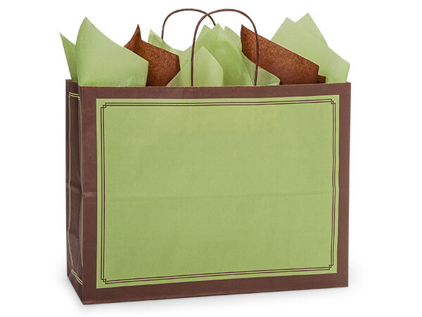 Vogue Pistachio & Chocolate Duets Recycled Bags 250 16x6x12-1/2""