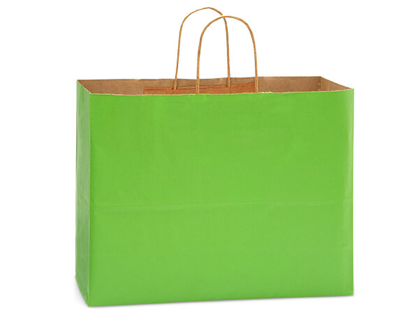 "Apple Green Recycled Kraft Bags Vogue 16x6x13"", 250 Pack"