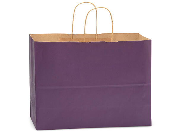 Vogue Purple Recycled Kraft Bags 250 Pk 16x6x13""