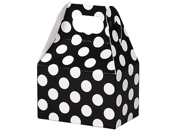 White Dots Black Mini Gable