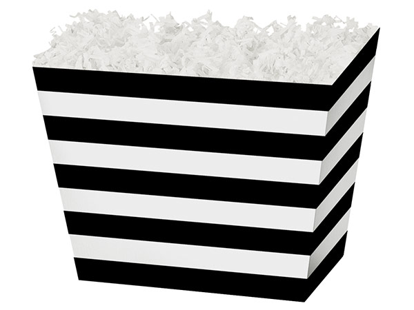 Black and White Striped Angle Basket Boxes
