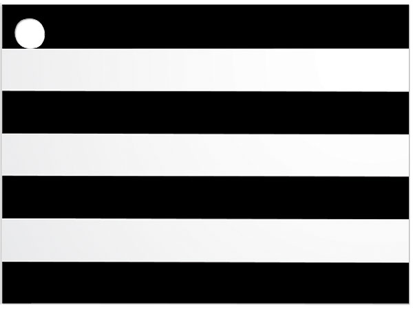 Black & White Stripes Theme Card 3-3/4 x 2-3/4""