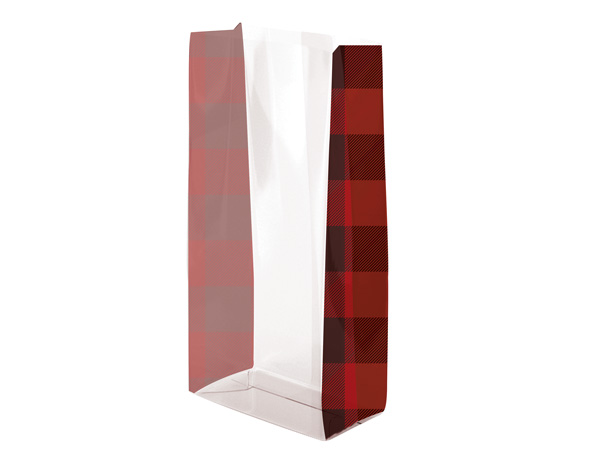 "Buffalo Plaid Cello Bags, 3.5x2x7.5"", 100 Pack"