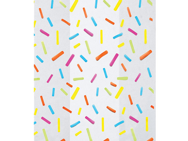 "Candy Sprinkles Cello Bags, 3.5x2x7.5"", 100 Pack"