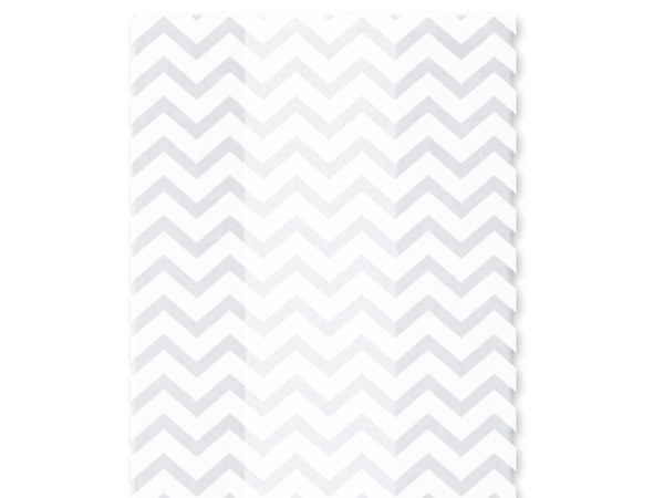 "Chevron White Cello Bags, 3.5x2x7.5"", 100 Pack"