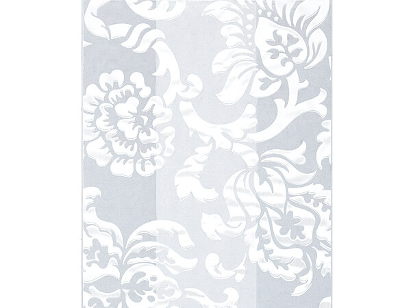 """*Damask White Cello Bags, 3.5x2x7.5"""", 100 Pack"""