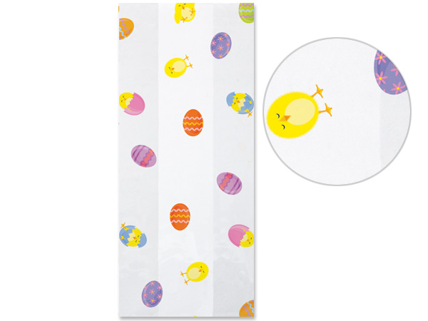 "Easter Chicks Cello Bags, 3.5x2x7.5"", 100 Pack"