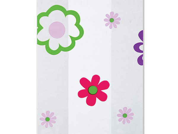 """Flower Groove Cello Bags, 3.5x2x7.5"""", 100 Pack"""