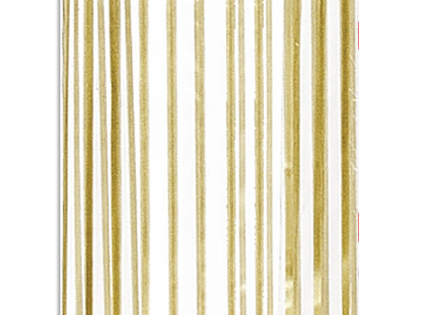 "Gold Vertical Stripes Cello Bags, 3.5x2x7.5"", 100 Pack"