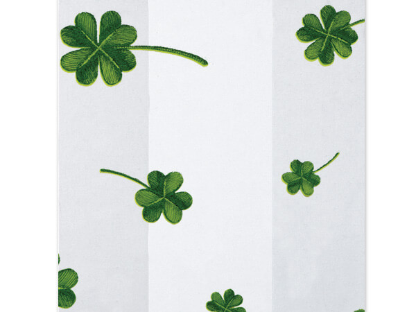 "Lucky Shamrock Clover Cello Bags, 3.5x2x7.5"", 100 Pack"