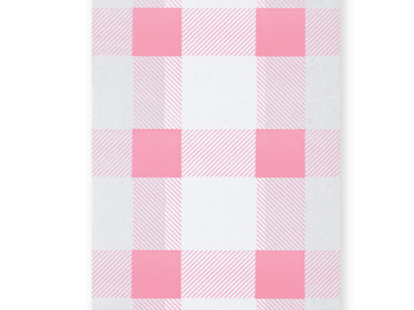 "*Pink Gingham Cello Bags, 3.5x2x7.5"", 100 Pack"