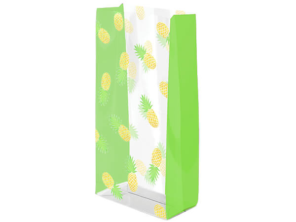 "*Party Like a Pineapple Cello Bags, 3.5x2x7.5"", 100 Pack"