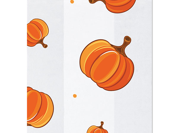 "Pumpkin Patch Cello Bags, 3.5x2x7.5"", 100 Pack"