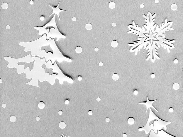 "Winter Flurry Cello Bags, 3.5x2x7.5"", 100 Pack"