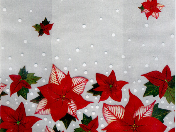 """*Winter Rose Cello Bags, 3.5x2x7.5"""", 100 Pack"""