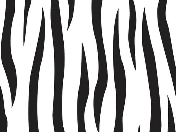 "*Zebra Cello Bags, 3.5x2x7.5"", 100 Pack"