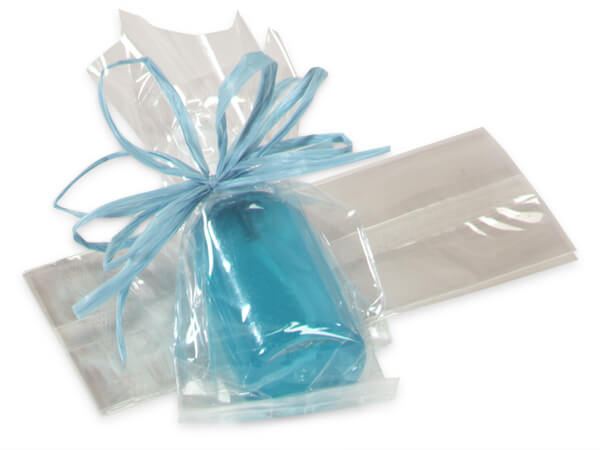 "Clear Cello Bags with Gusset, 2.5x2x6"", 100 Pack"