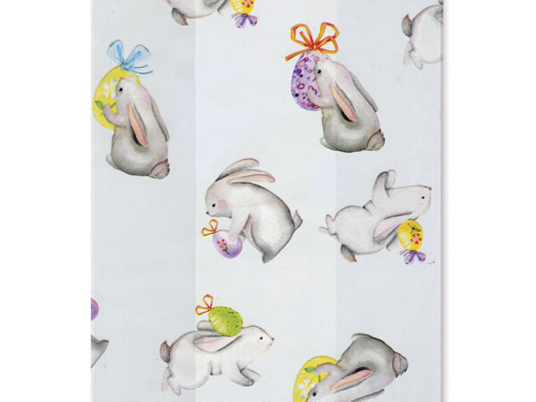 "Bunny and Egg Cello Treat Bags, 4x2x9"", 100 Pack"