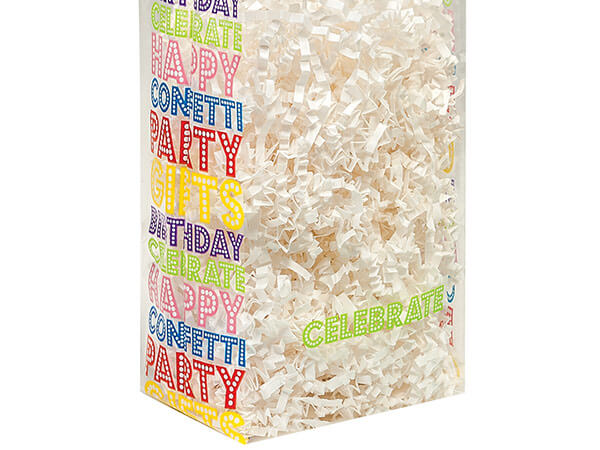 """Birthday Marquee Cello Bags, 4x2x9"""", 100 Pack"""