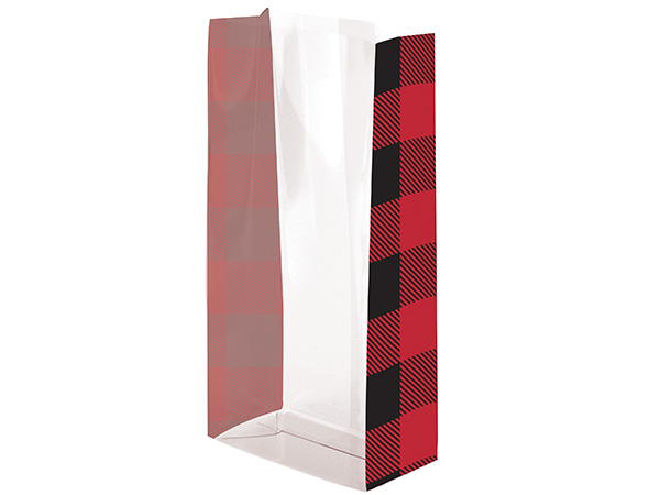 Deer Red Plaid Treat Bags