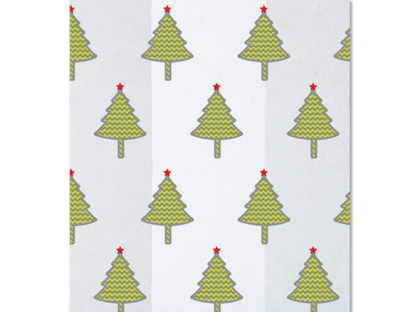 "*Chevron Trees Cello Bags, 4x2x9"", 100 Pack"