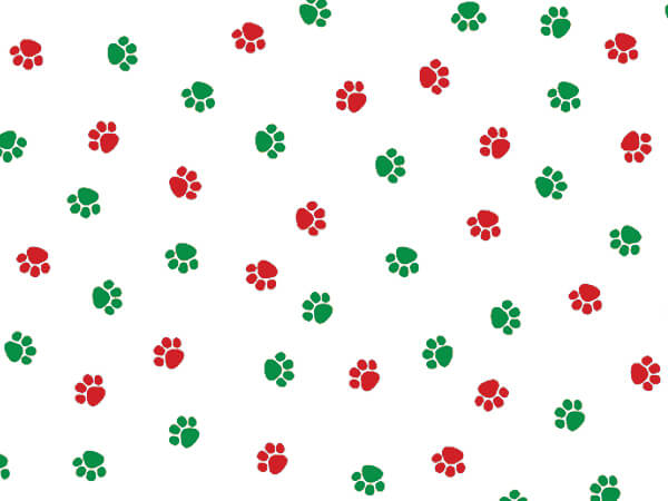 "Christmas Paws Cello Bags, 4x2x9"", 100 Pack"