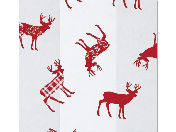 Deer Red Plaid Cello Bags