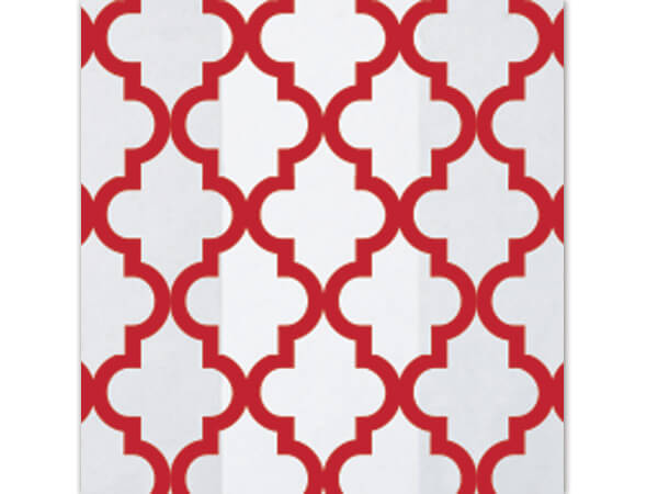 """*Geo Tiles Red Cello Bags, 4x2x9"""", 100 Pack"""