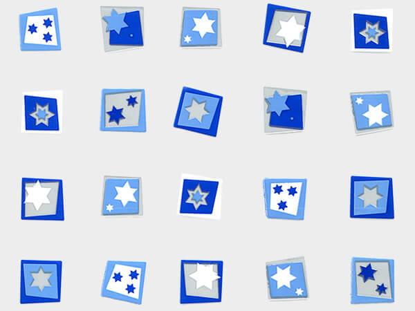 """Hanukkah Star Cello Bags, 4x2x9"""", 100 Pack"""
