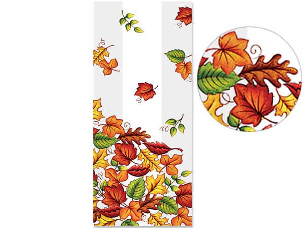 "Leaf Pile Cello Bags, 4x2x9"", 100 Pack"