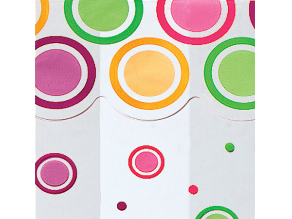 """Mod Dots Bright Cello Bags, 4x2x9"""", 100 Pack"""
