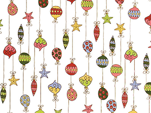 """Merry Ornaments Cello Bags, 4x2x9"""", 100 Pack"""