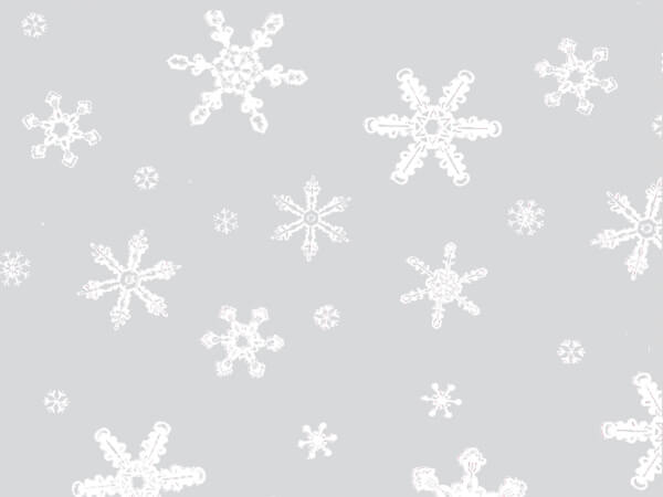 "Snowflakes Cello Bags, 4x2x9"", 100 Pack"