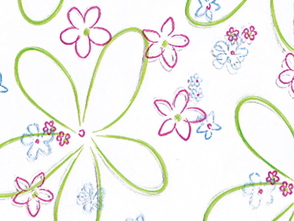 """*Spring Blooms Cello Bags, 4x2x9"""", 100 Pack"""