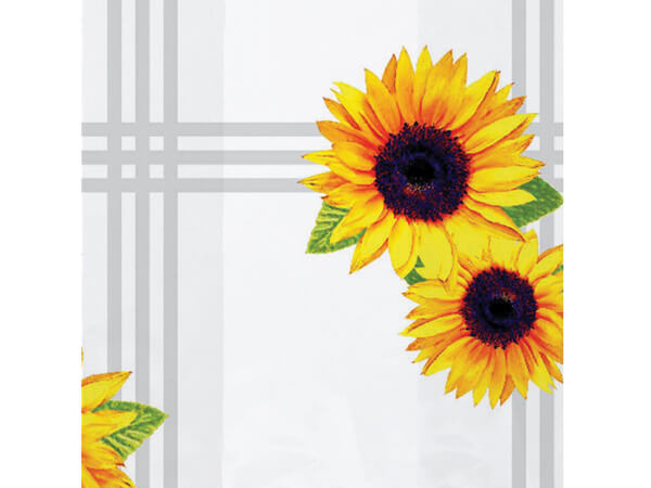 "Sunflowers Cello Bags, 4x2x9"", 100 Pack"