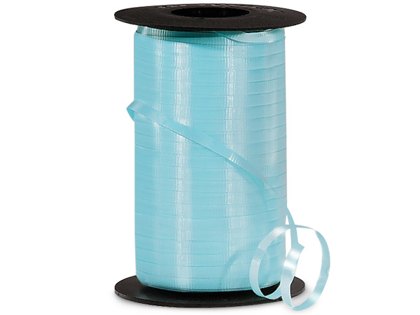 "Aqua Blue Curling Ribbon, 3/16""x500 yards"