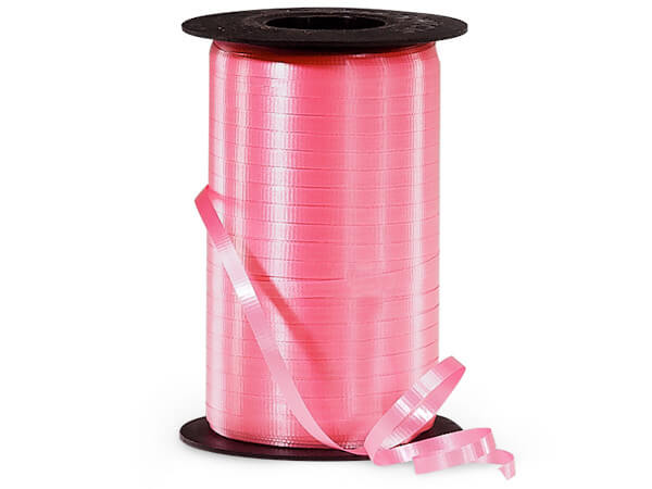 "Azalea Pink Curling Ribbon, 3/16""x500 yards"