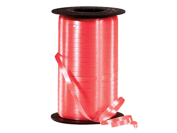 """Coral Curling Ribbon 3/16""""x500 yds"""