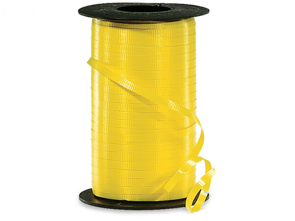 "Yellow Daffodil Curling Ribbon, 3/16""x500 yards"