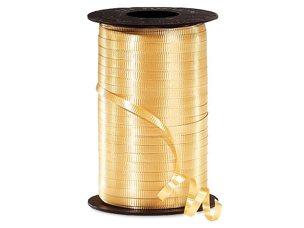 "Gold Curling Ribbon, 3/16""x500 yards"
