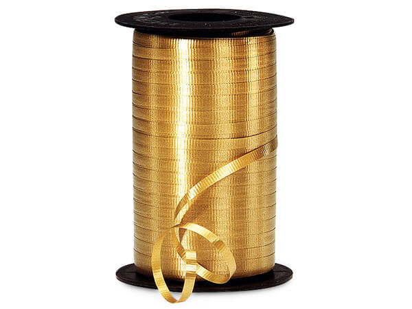 "Holiday Gold Curling Ribbon 3/16""x500 yds"