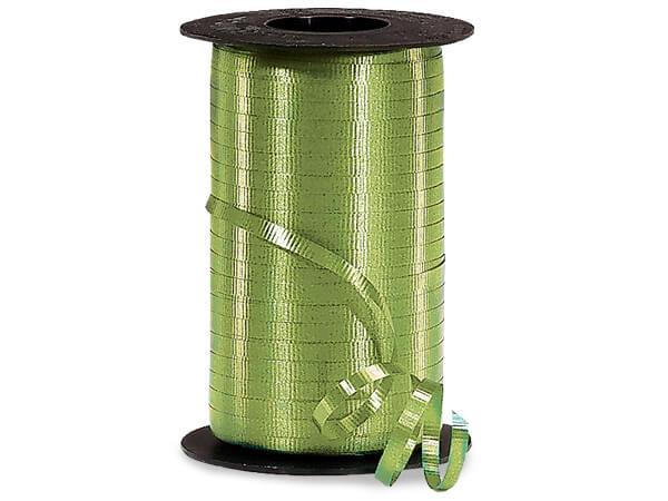"""Leaf Green Curling Ribbon 3/16""""x500 yds"""