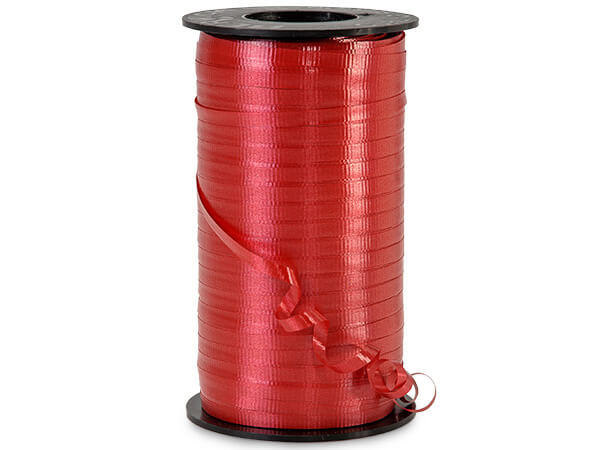 "Lava Red Curling Ribbon, 3/16""x500 yards"